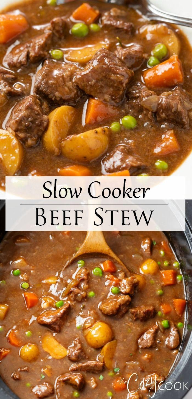 Slow Cooker Beef Stew Best Recipe In 2020 Slow Cooker Beef Stew Slow Cooker Beef Easy Pasta Recipes