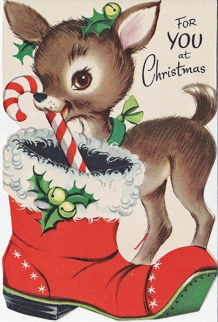 Олень новогодняя открытка, свинка прикольная