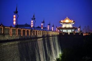 Self portrait of a city wall / Xi'an, China
