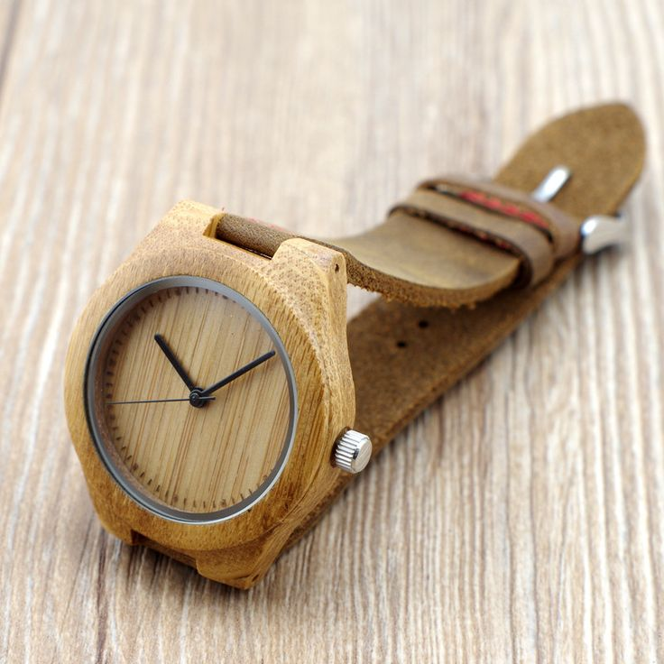 New Women' Design Bamboo Wristwatches With Genuine Cowhide Leather Band Wooden Fashion Watches as Gifts for female friends