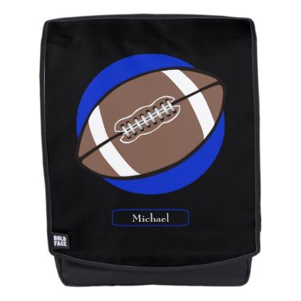 Football Blue Personalized Backpack - boy gifts gift ideas diy unique