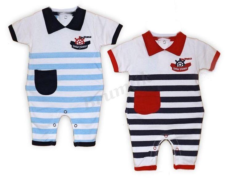 OVERALY   Chlapecký overálek pro malého námořníka   Kojenecké oblečení, výbavička pro miminko a potřeby pro kojence