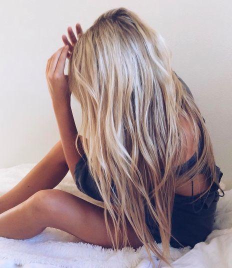 Beach Hair Natural Waves Long Blonde Summer