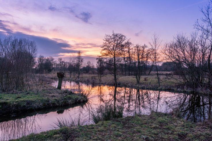 Zonsondergang, Leiden, 02-02-2017. winter ,zon ,natuur  Foto: buienradar