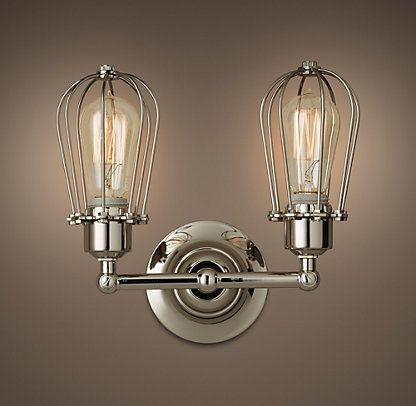 17 best images about lighting sconces on pinterest Restoration hardware bathroom sconces