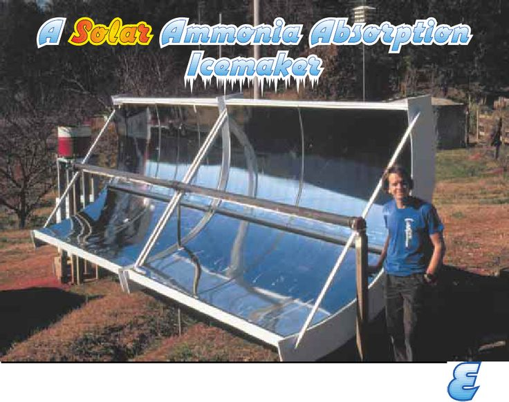 How To Build A Solar Icemaker Possibly Put On Roof Of