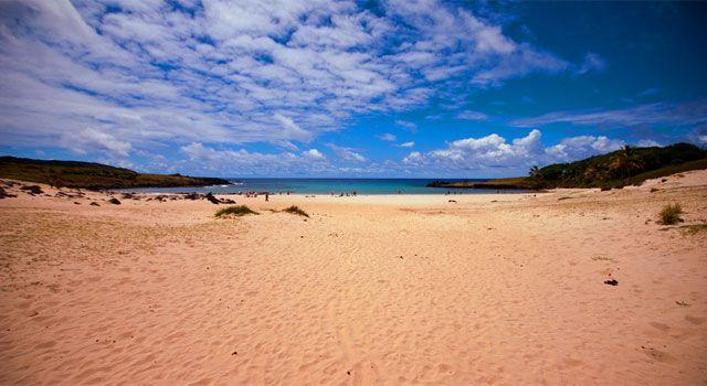 Beach of the Week: Anakena Beach, Easter Island #beach #easterisland
