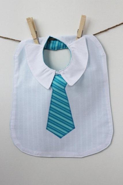 Future Executive Business Bib with Aqua Striped Tie. $15,00, via Etsy.