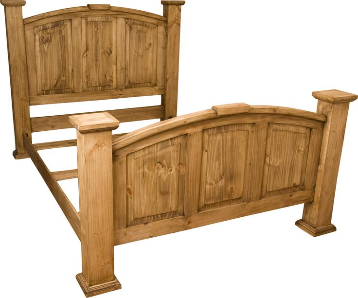 best 25 rustic wood bed ideas on pinterest headboard lights rustic wood headboard and wooden beds - Wood Bed Frame Queen