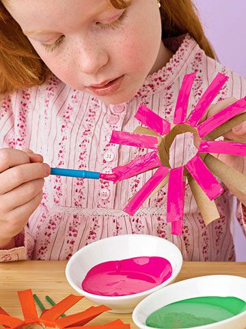 TP roll spring flowers - very easy...must remember this for Easter crafts