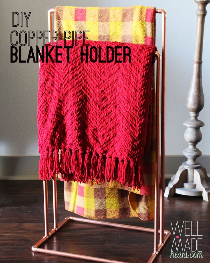 Pipe blanket stand with instructions