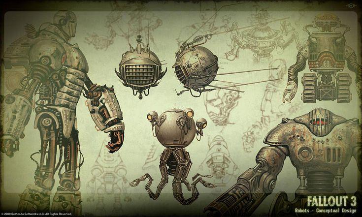 Fallout 3 robot design (Fifties style!)