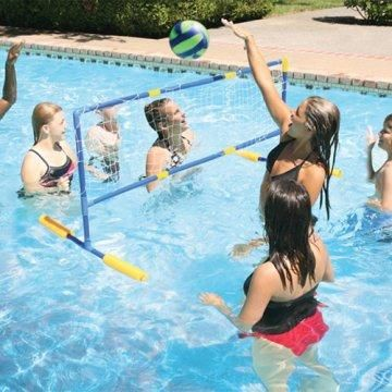 Floating Water Volleyball Game.