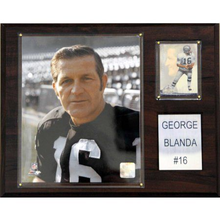 C Collectables NFL 12x15 George Blanda Oakland Raiders Player Plaque