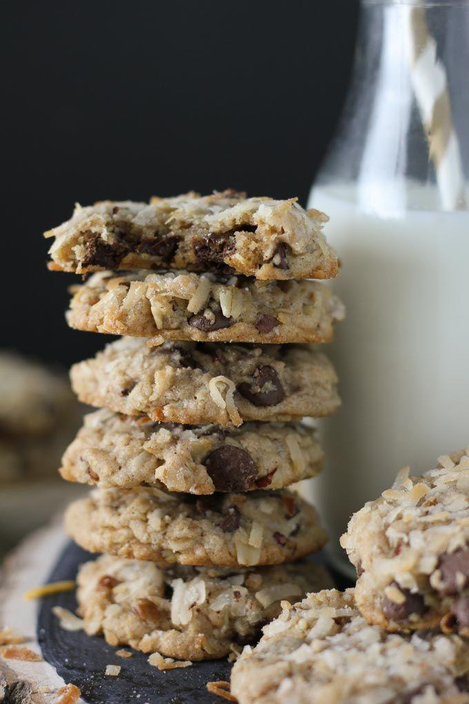Coconut Pecan Chocolate Chip Cookies - Baked in AZ