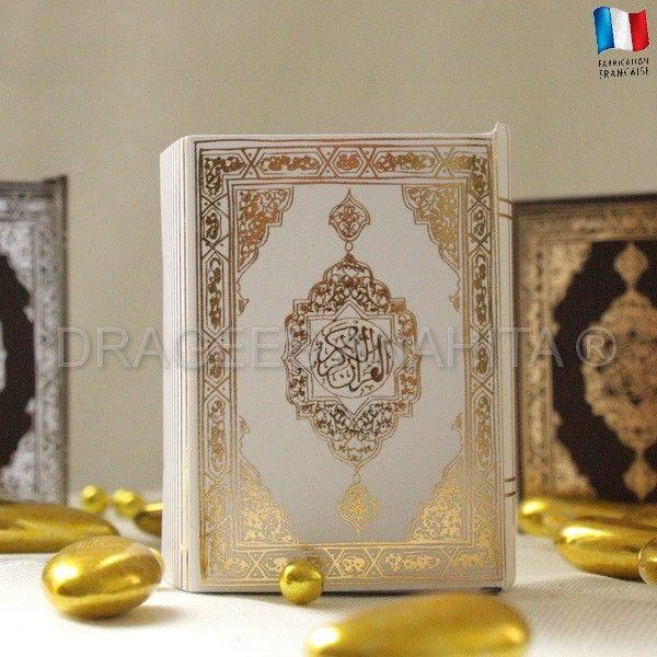 Un mini Coran pour offrir vos dragées lors de votre cérémonie de mariage ou pour tout évènement religieux de votre vie comme la circonsicion de votre fils.
