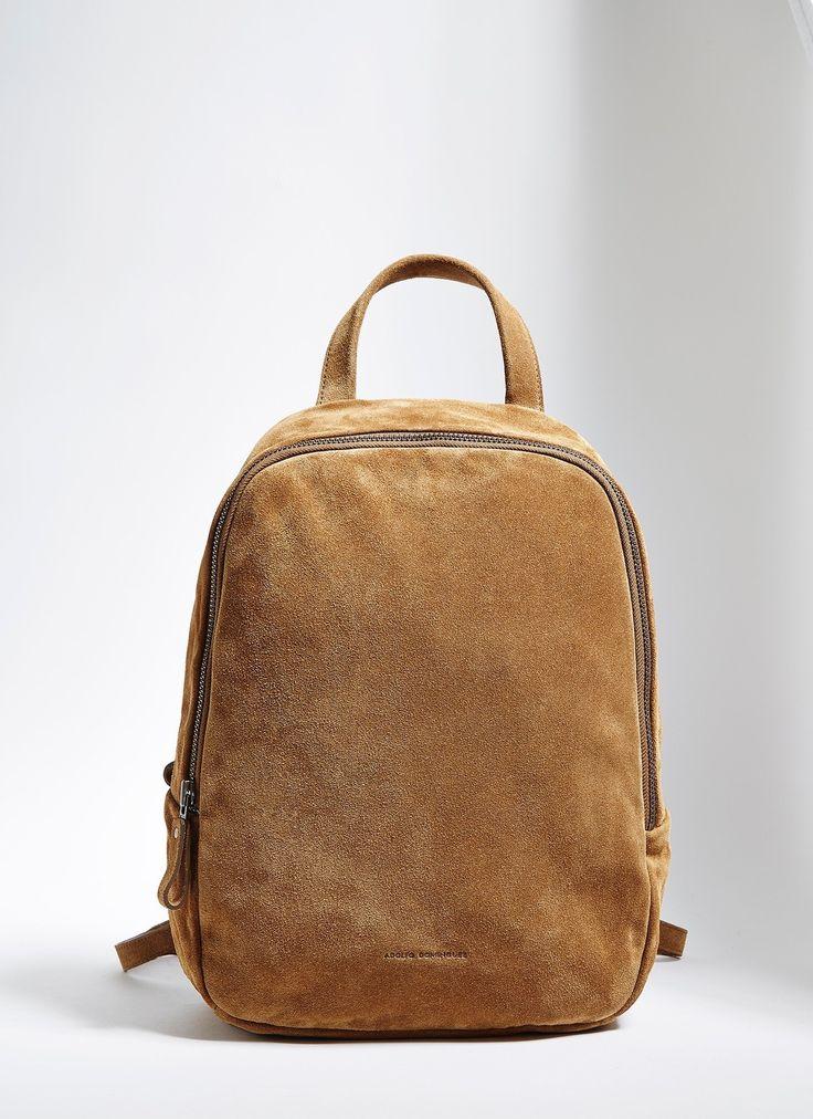 Mochila de piel en serraje - Bolsos y maletines | Adolfo Dominguez shop online