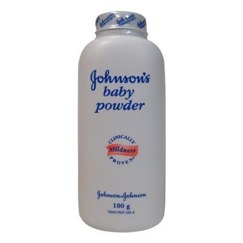 Johnson & Johnson Baby Powder 100 Gram (3.5 Oz) (Pack of 12) by Johnson & Johnson. $13.26. Absorbs excess wetness from the skin. Clinically proven to be mild on a baby's skin. BUY MORE (12PK) SAVE MORE!!. Cornstarch baby powder. Johnson's baby powder pure cornstarch absorbs excess wetness from the skin to keep you dry and has a soft texture to help your skin feel smooth and fresh. clinically proven mildness.