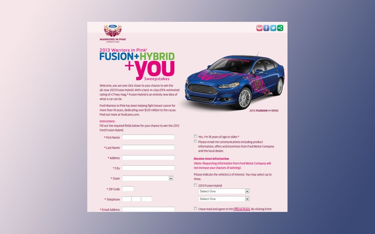 Warriors in pink sweepstakes – Fusion Hybrid You.