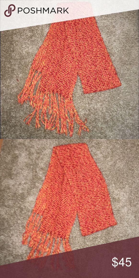 Banana Republic  Mixed Orange Tassle Scarf Banana Republic soft mixed orange Knit 72% acrylic, 28% wool scarf. Banana Republic Accessories Scarves & Wraps