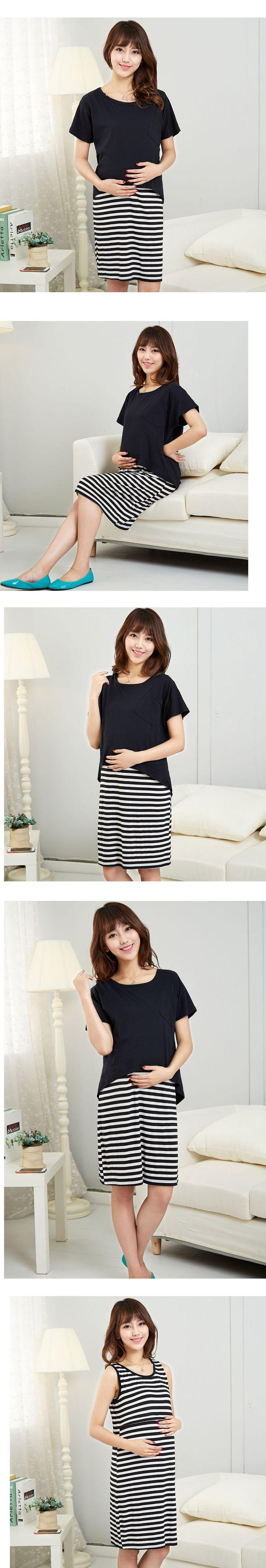 Vêtements de maternité manches allaitement robes femmes enceintes , Plus la taille Long infirmiers robe 2 pcs ensemble robe de réservoir + Top / blouse dans Robes de Produits pour bébés sur AliExpress.com   Alibaba Group
