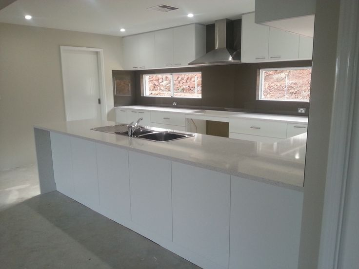 Our clients kitchen in Jarrahdale, they wanted a white theme - 2879