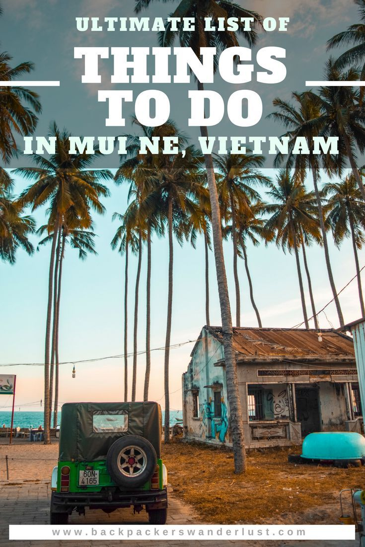 Top Things To Do In Mui Ne, Vietnam. Explore all the top things to do in Mui Ne. This amazing town is full of activities from surfing and kite surfing to quad biking. The landscapes are some of the most beautiful in all of Vietnam with thered and white sand dunes as well as the incredible fairy stream. You will have plenty of things to do in Mui Ne. #muine #vietnam #asia #southeastasia #travel