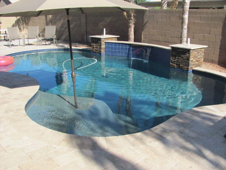Blue granite pebble sheen pics pool pinterest blue granite pool steps and blue - Pool and blues ...