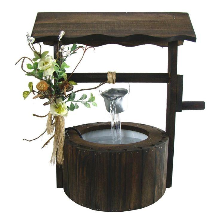Fonte De Água Madeira Rústica Lembranças Do Campo- Feng Shui - R$ 68,90 no MercadoLivre