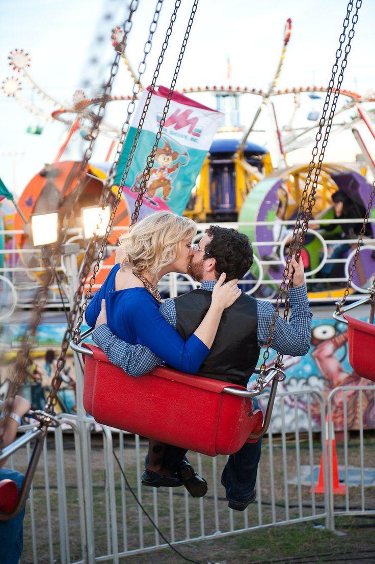 Florida State Fair swing engagement shoot from Sarah & Ben  Read more - http://www.stylemepretty.com/florida-weddings/2013/07/03/florida-state-fair-engagement-from-sarah-ben/
