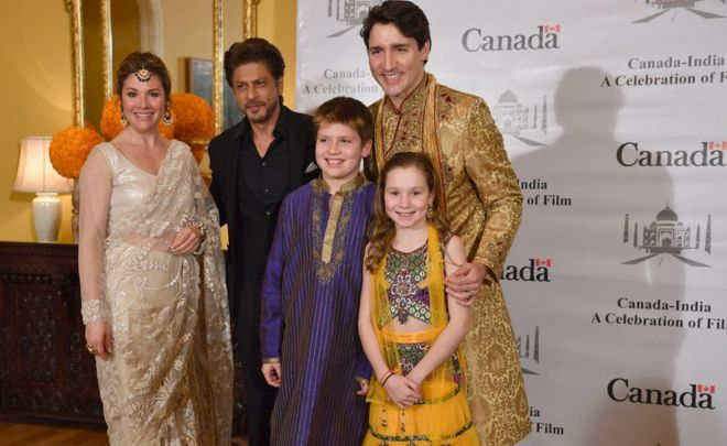 """2/22/18 Justin Trudeau's 'Bollywood' wardrobe amuses Indians  So far, Mr Trudeau has seemed unfazed by the slew of criticism that has dogged his Indian trip. His office has denied that he is being """"snubbed"""" by the Indian government, and they have brushed off accusations that he is on a """"holiday"""" at state expense."""