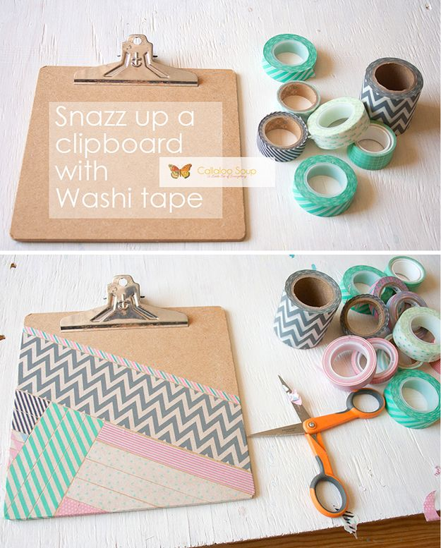 DIY Washi Tape PRojects and Patterns | http://diyready.com/100-creative-ways-to-use-washi-tape/