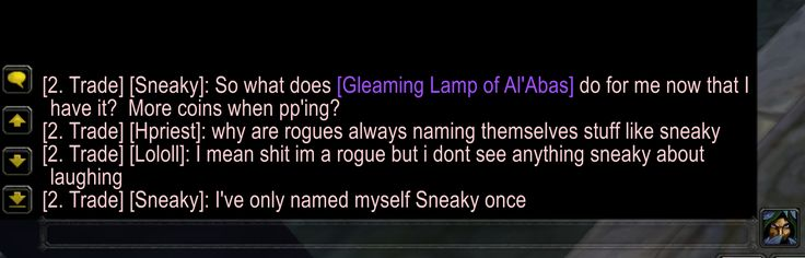 """I thought this reply to """"Why are rogues always naming themselves stuff like sneaky?"""" pretty good. #worldofwarcraft #blizzard #Hearthstone #wow #Warcraft #BlizzardCS #gaming"""