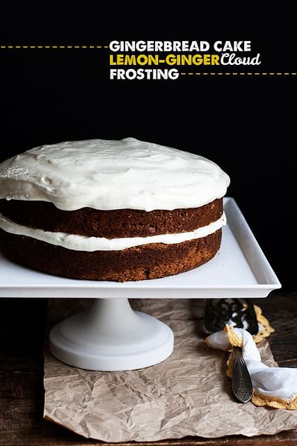 Gingerbread Cake w/ Lemon-Ginger Cloud Frosting by Cindy | Hungry Girl por Vida, via Flickr