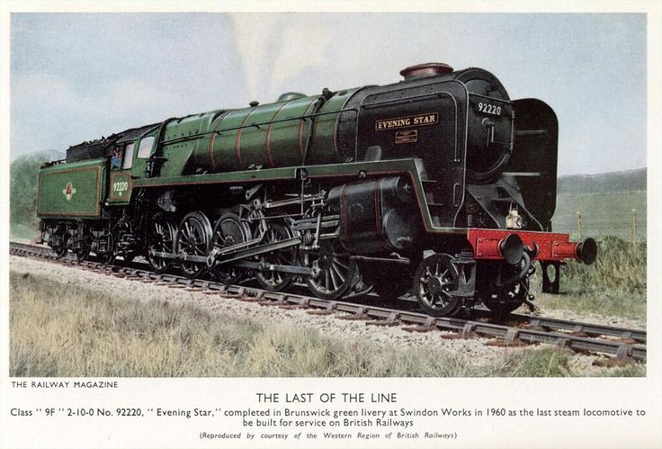 Contemporary picture of the last steam locomotive built for British Railways. Railway Magazine, 1960.