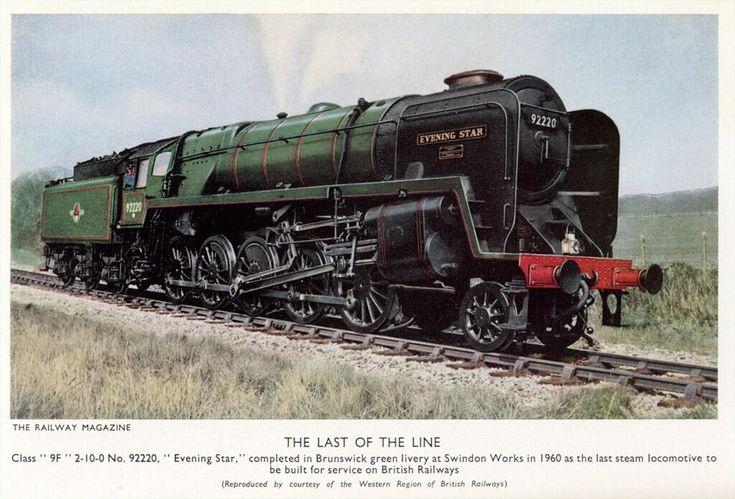 Contemporary picture of the last steam locomotive built for British Railways. Railway Magazine, 1960.