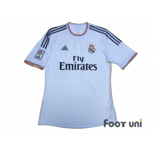 Photo1: Real Madrid 2013-2014 Home Shirt LFP Patch/Badge adidas - Football Shirts,Soccer Jerseys,Vintage Classic Retro - Online Store From Footuni Japan