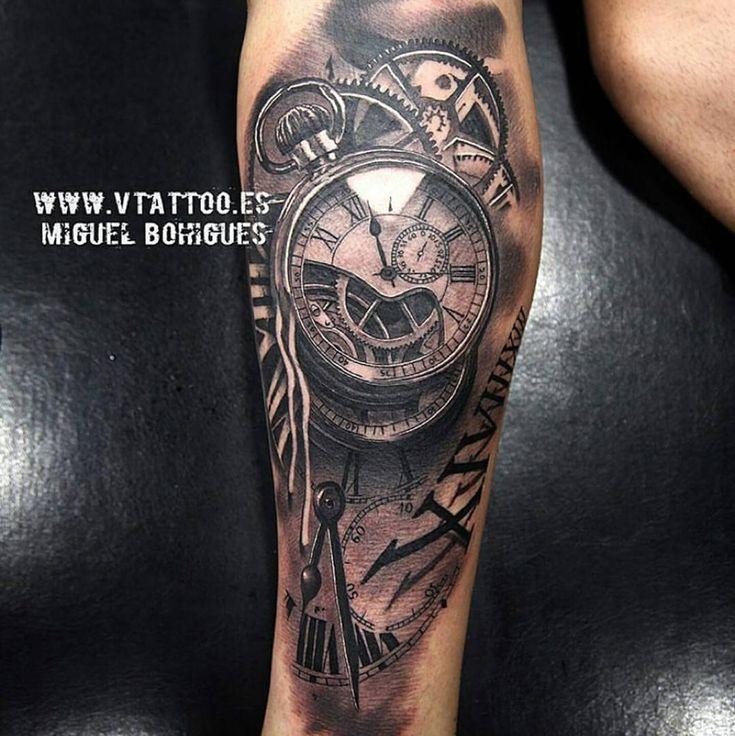 199 best tatuajes images on pinterest tattoo ideas arm for Time piece tattoos