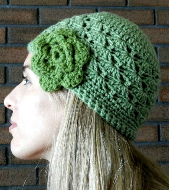 Shell Stitch Crochet Hat Pattern | Don't let a bad hair day stop you from looking fabulous by working up this easy crochet hat!