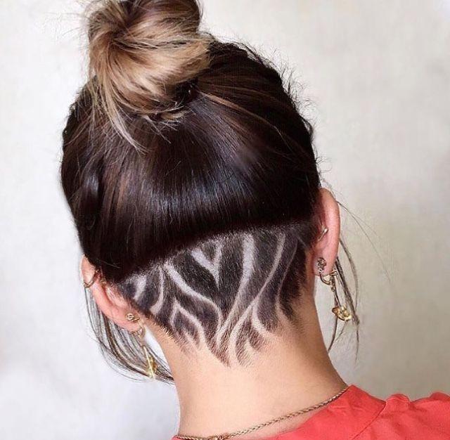 Undercut Flame Pattern Design Undercut Hairstyles Shaved Hair Designs Undercut Long Hair