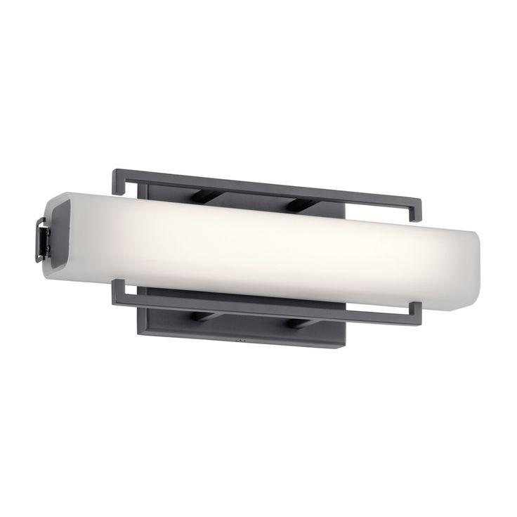 Elan Perov 1-Light 4.75-in Bronze Rectangle LED Vanity Light Bar