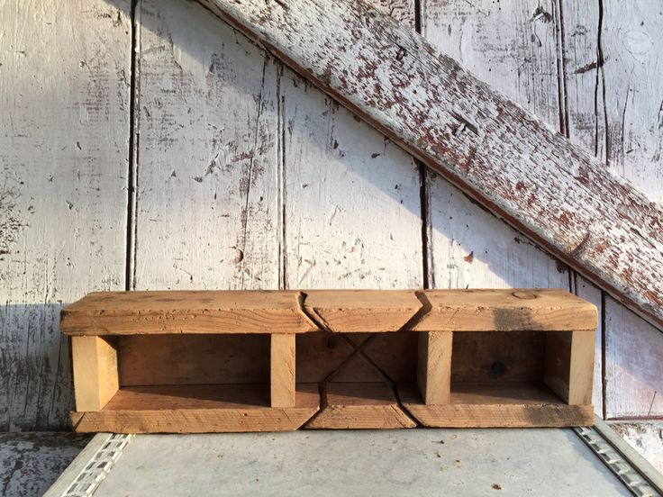 Primitive Wooden box Wood Shelf Shelf to display knic knacks two wall shelves primitive rustic by LititzCarriageHouse on Etsy