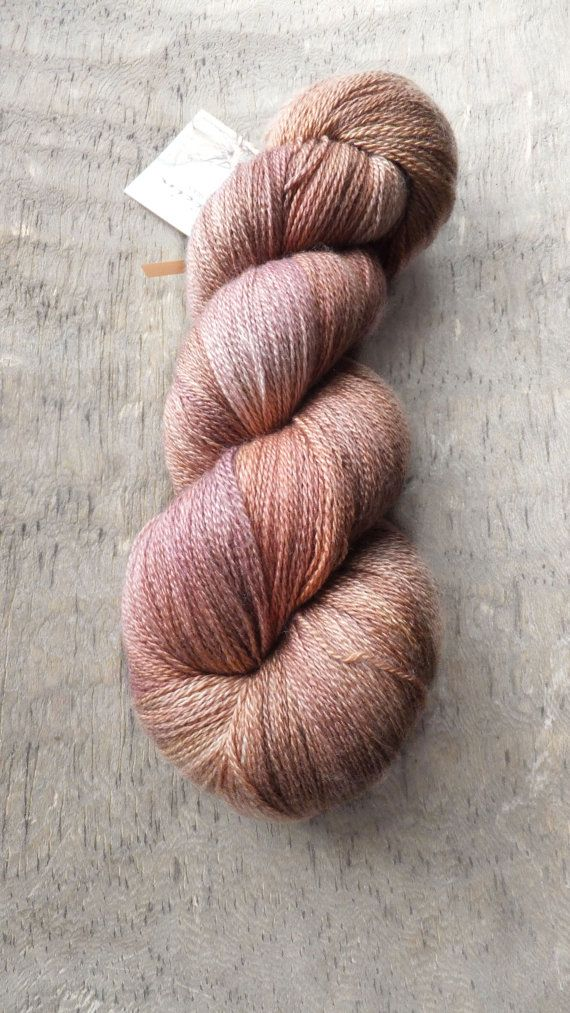 Vintage Copper Rose - Hand Dyed Merino Silk Lace Yarn