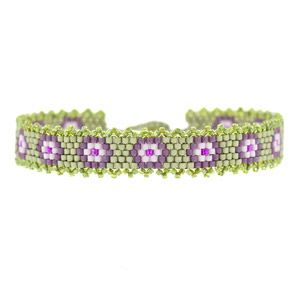 Purple Pansies Bracelet | Fusion Beads Inspiration Gallery