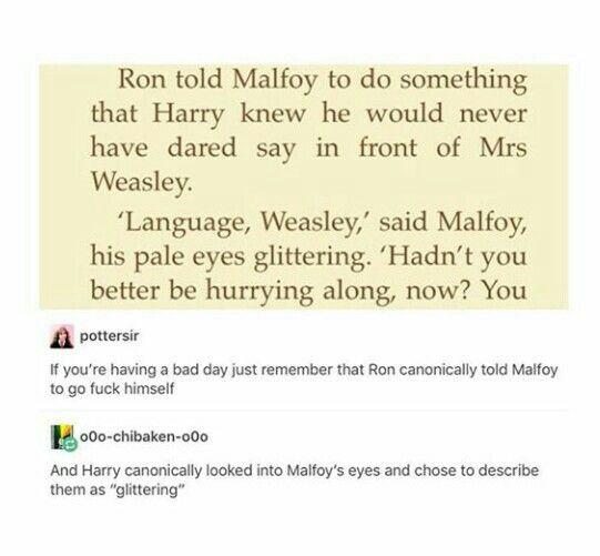 Ron Weasley , Draco Malfoy