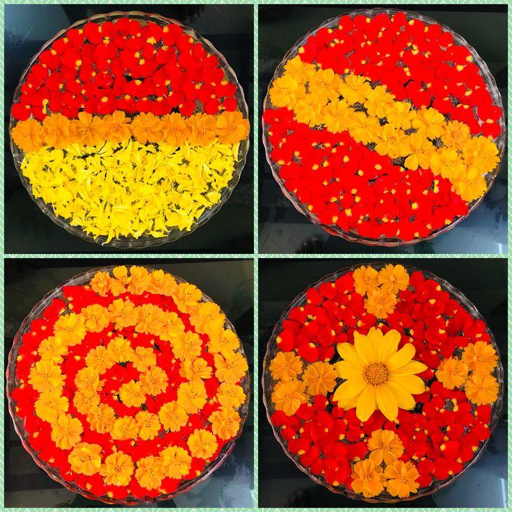 Floating flowers Flower rangoli, Floating flowers