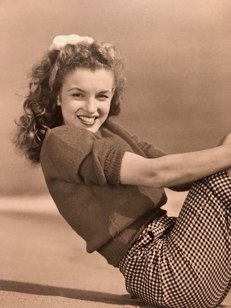 Large Marilyn Monroe Photo Age 18 Norma Jeane Andre DeDienes De Dienes STAMPED | eBay