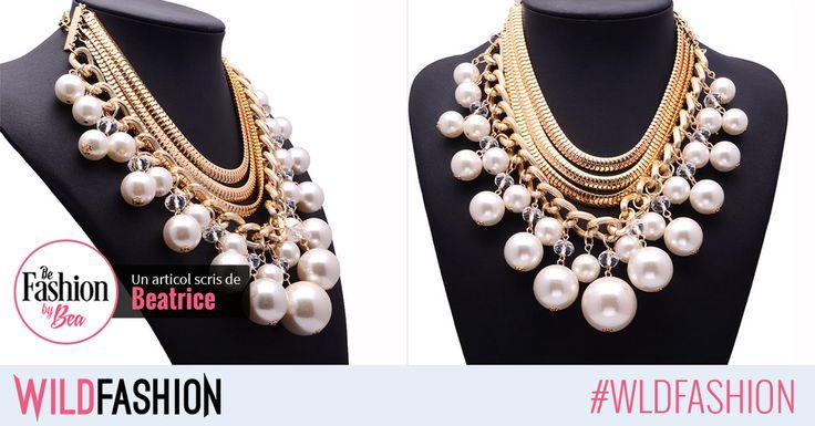 Un colier cu perle supradimensionate va deveni cu rapiditate accesoriul tau preferat! Potrivirea perfecta o poti face la o rochie de catifea