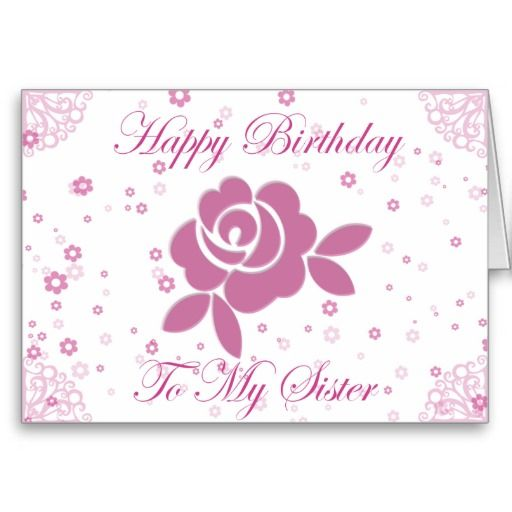 Happy Birthday Sister Cards | Happy Birthday Sister Card | Zazzle.co.uk