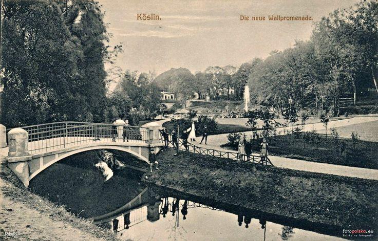 Most nad Dzierżęcinką, Koszalin - 1907 rok, stare zdjęcia